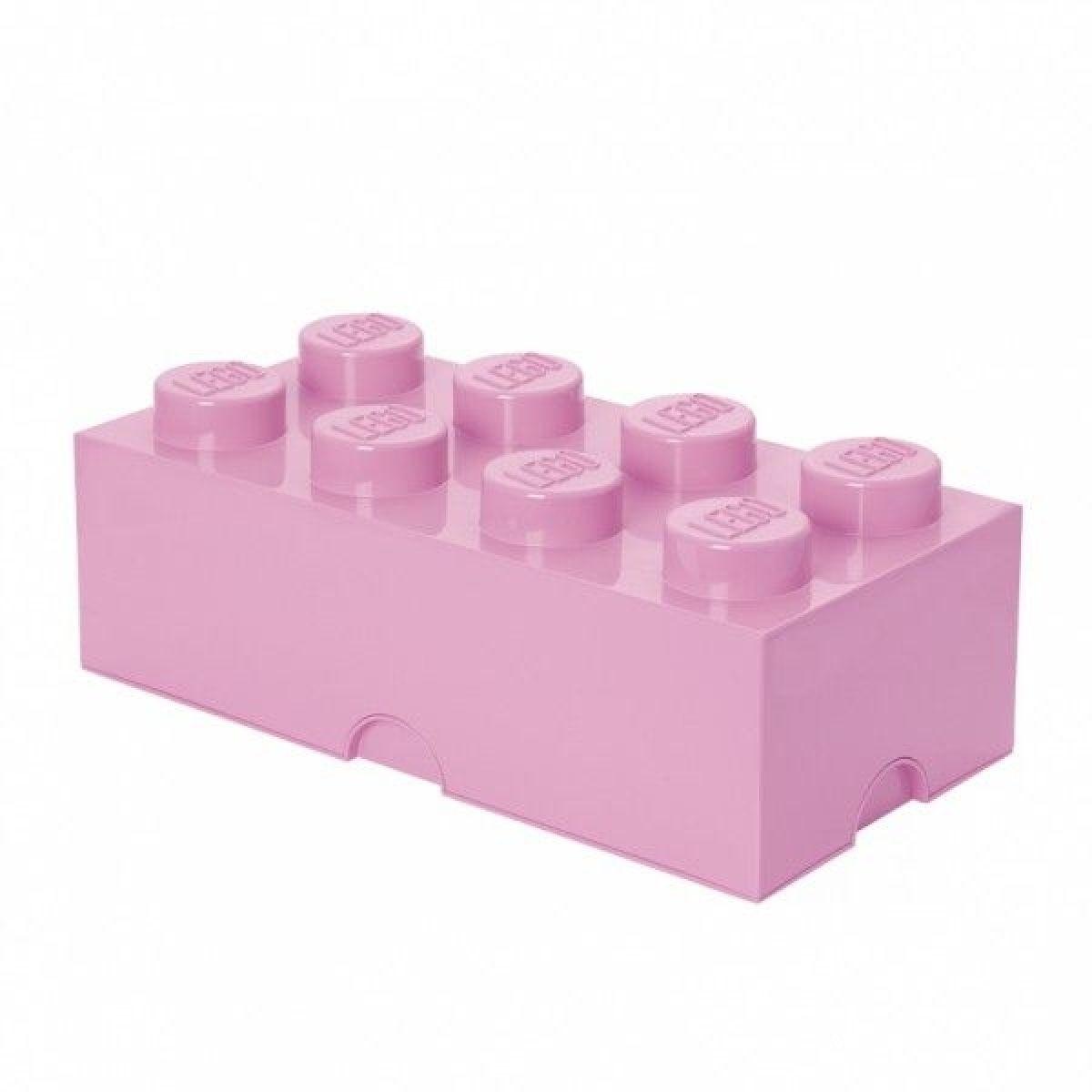 LEGO Úložný box 25 x 50 x 18 cm Světle růžová