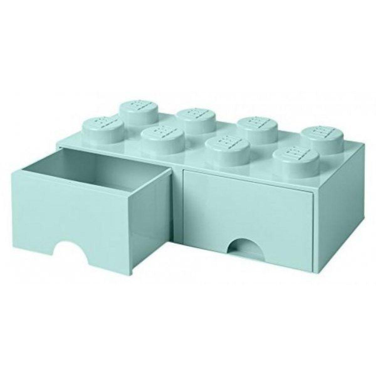 LEGO úložný box 8 se šuplíky aqua
