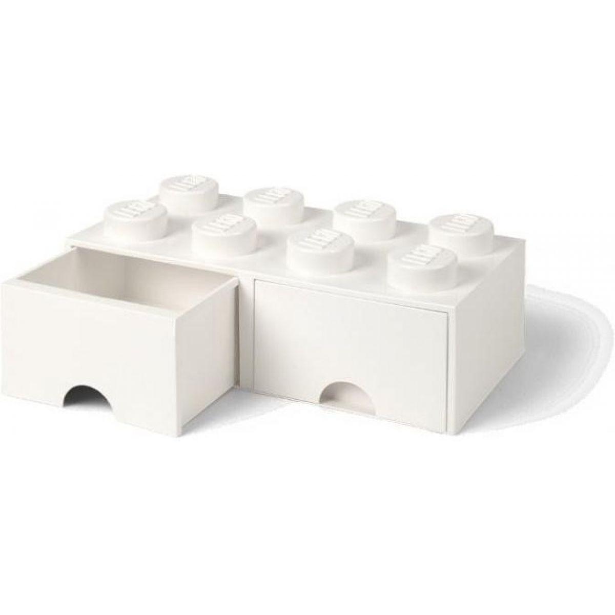 LEGO úložný box 8 se šuplíky bílá