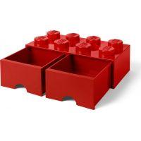 LEGO Úložný box 8 se šuplíky Červená 4