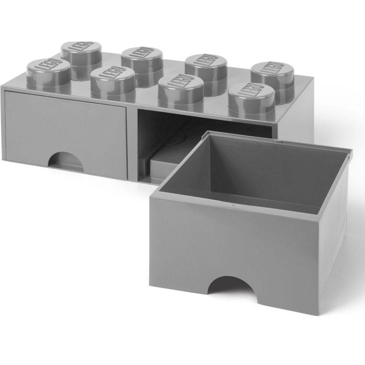 LEGO Úložný box 8 se šuplíky šedá