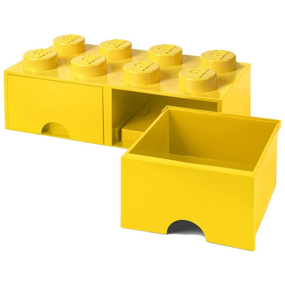 LEGO Úložný box 8 s šuplíky - žlutá - Poškozený obal