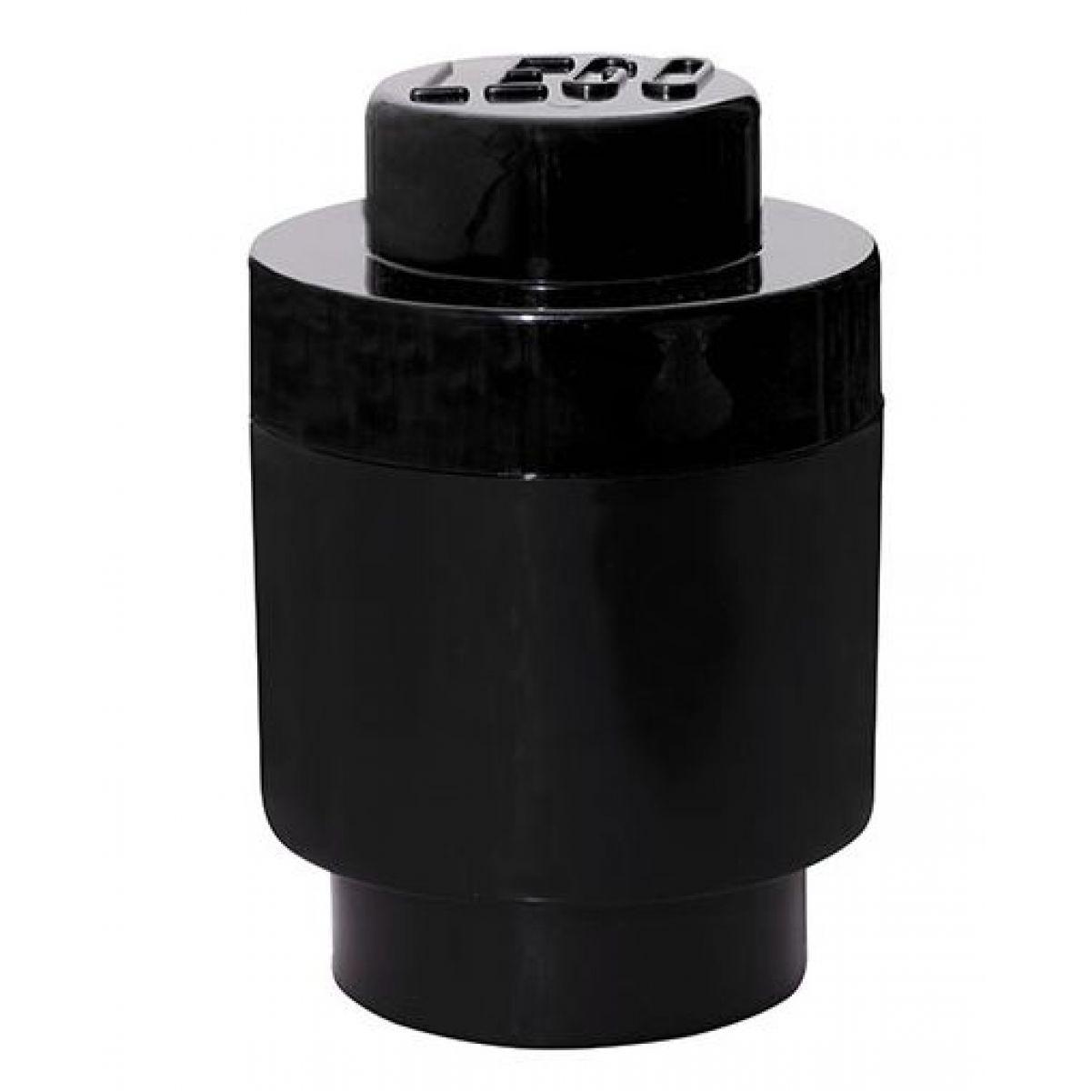 LEGO Úložný box kulatý 12,5 x 18 cm černá