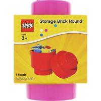 LEGO Úložný box kulatý 12,5 x 18 cm Růžová 2