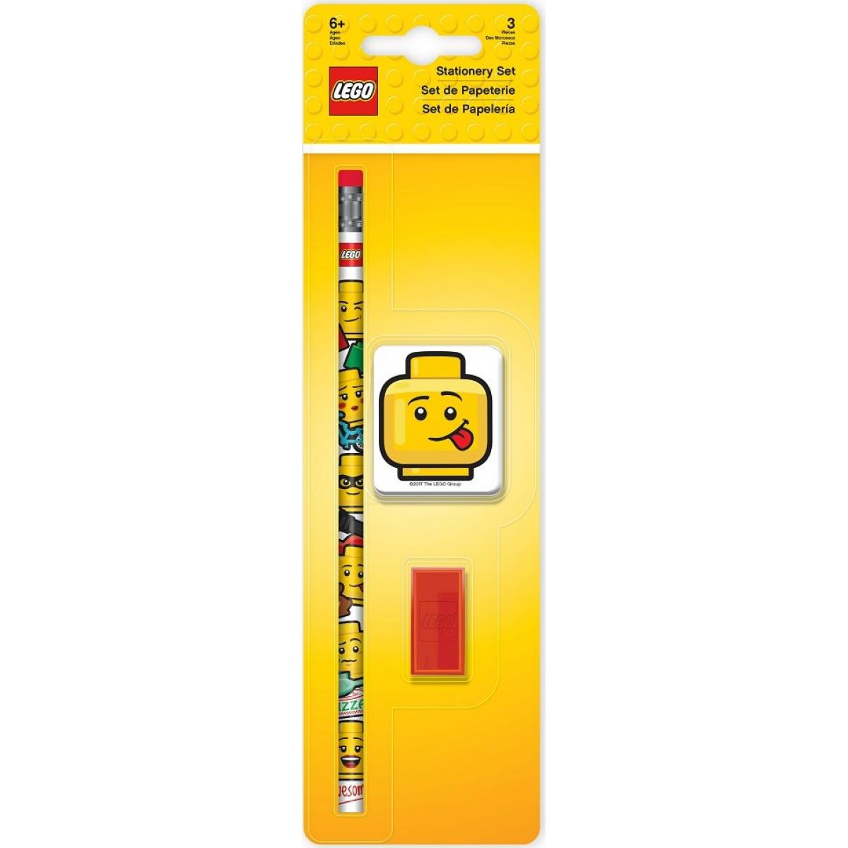 LEGO® Iconic Stationery Set tužka, ořezávátko a guma