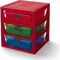 LEGO® organizér se třemi zásuvkami červený