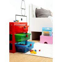 LEGO® organizér se třemi zásuvkami červený 3