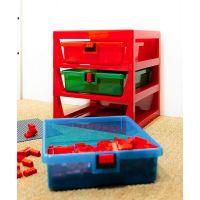 LEGO® organizér se třemi zásuvkami červený 4