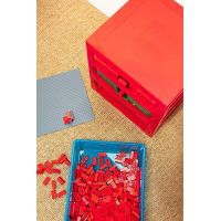 LEGO® organizér se třemi zásuvkami červený 5
