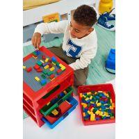 LEGO® organizér se třemi zásuvkami červený 6