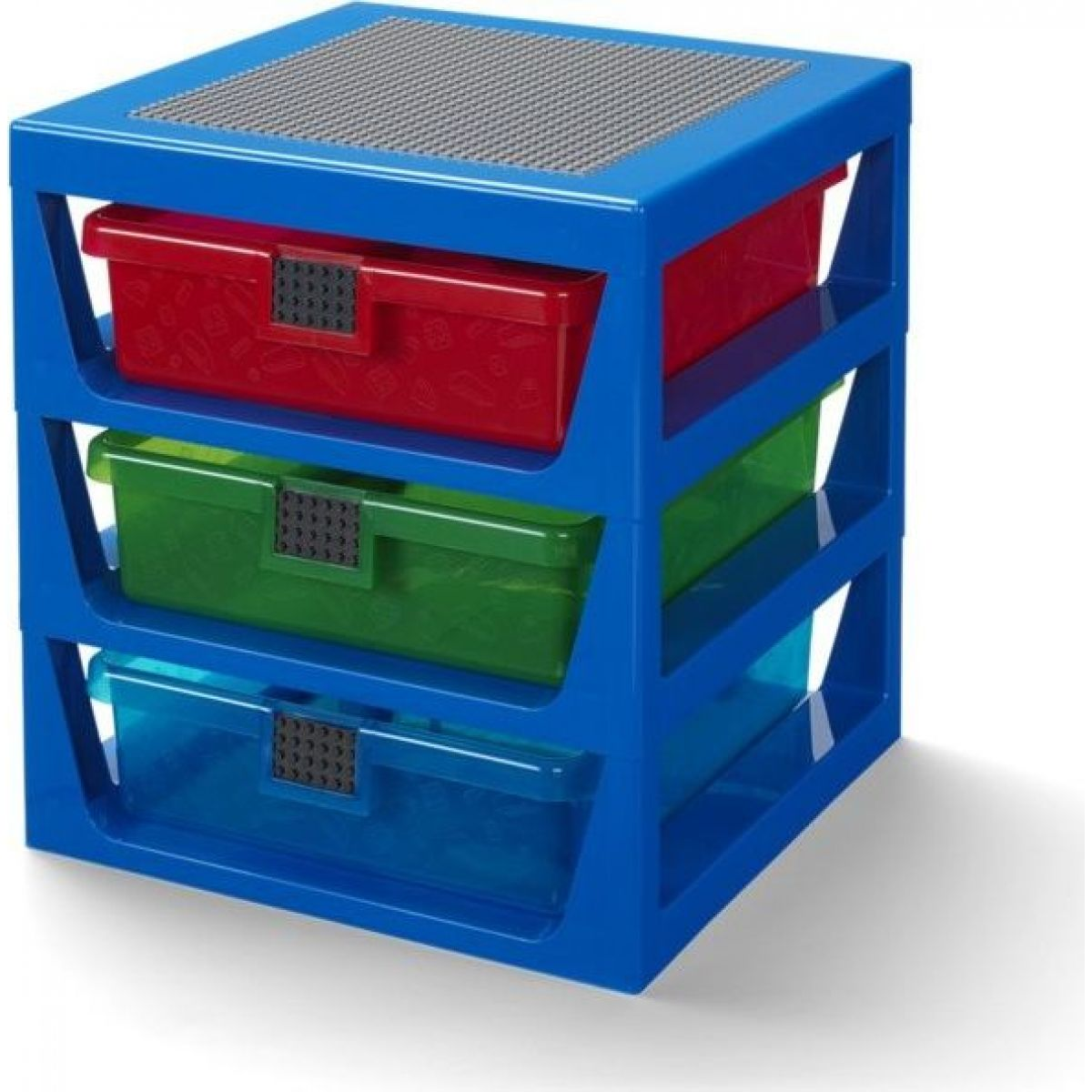 LEGO® organizér se třemi zásuvkami modrý