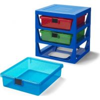 LEGO® organizér se třemi zásuvkami modrý 2