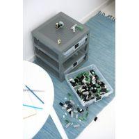 LEGO® organizér se třemi zásuvkami modrý 6