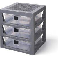 LEGO® Organizér se třemi zásuvkami tmavě šedý