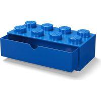 LEGO® stolní box 8 se šuplíky modrý