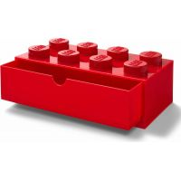 LEGO® stolní box 8 se zásuvkou červený