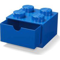 LEGO® úložný box 4 se šuplíky modrý