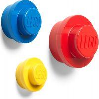 LEGO® věšák na zeď 3 ks Žlutý, modrý a červený