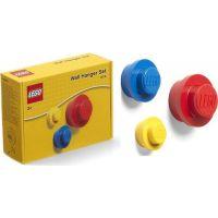 LEGO® věšák na zeď 3 ks Žlutý, modrý a červený 2
