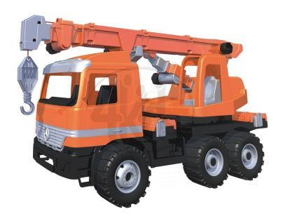 Lena 02177 - Autojeřáb 3osý, oranžový