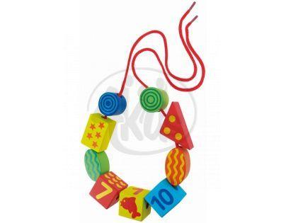 LENA 32007 - Dřevěné perly, číslice (5 barev)