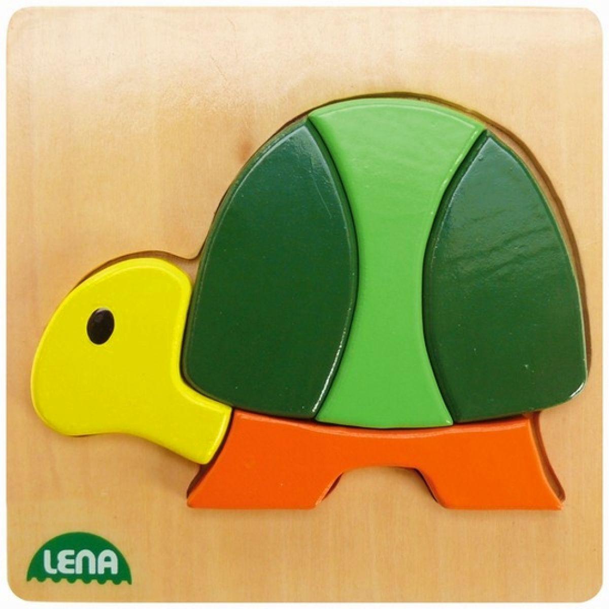 LENA 32063 - Dřevěné puzzle, želva
