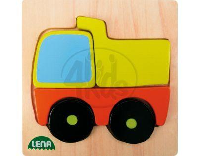 LENA 32087 - Dřevěné puzzle, nákladní auto