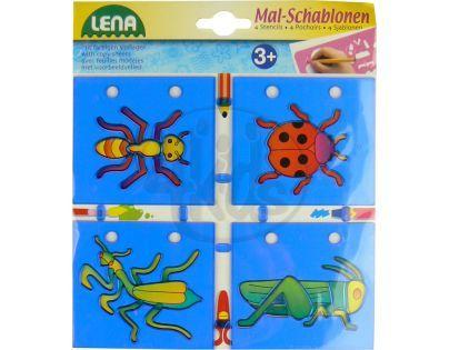 Lena Kreslící šablony 4ks - Hmyz