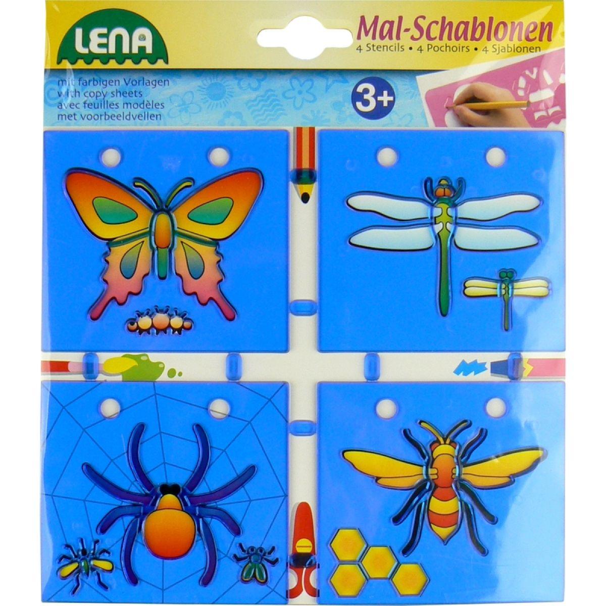 Lena Kreslící šablony 4ks - Okřídlený hmyz