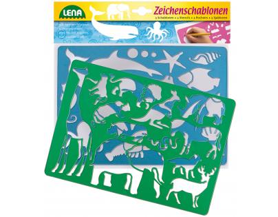 Lena 65768 Kreslící šablony Afrika a oceán