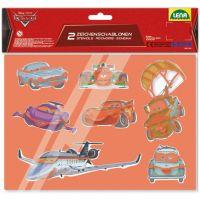 LENA 65804 - Disney šablony, malovací sada, cars