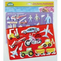 Lena 65773 Kreslící šablony Dopravní prostředky a lidi 2