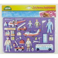 Lena 65773 Kreslící šablony Dopravní prostředky a lidi 3