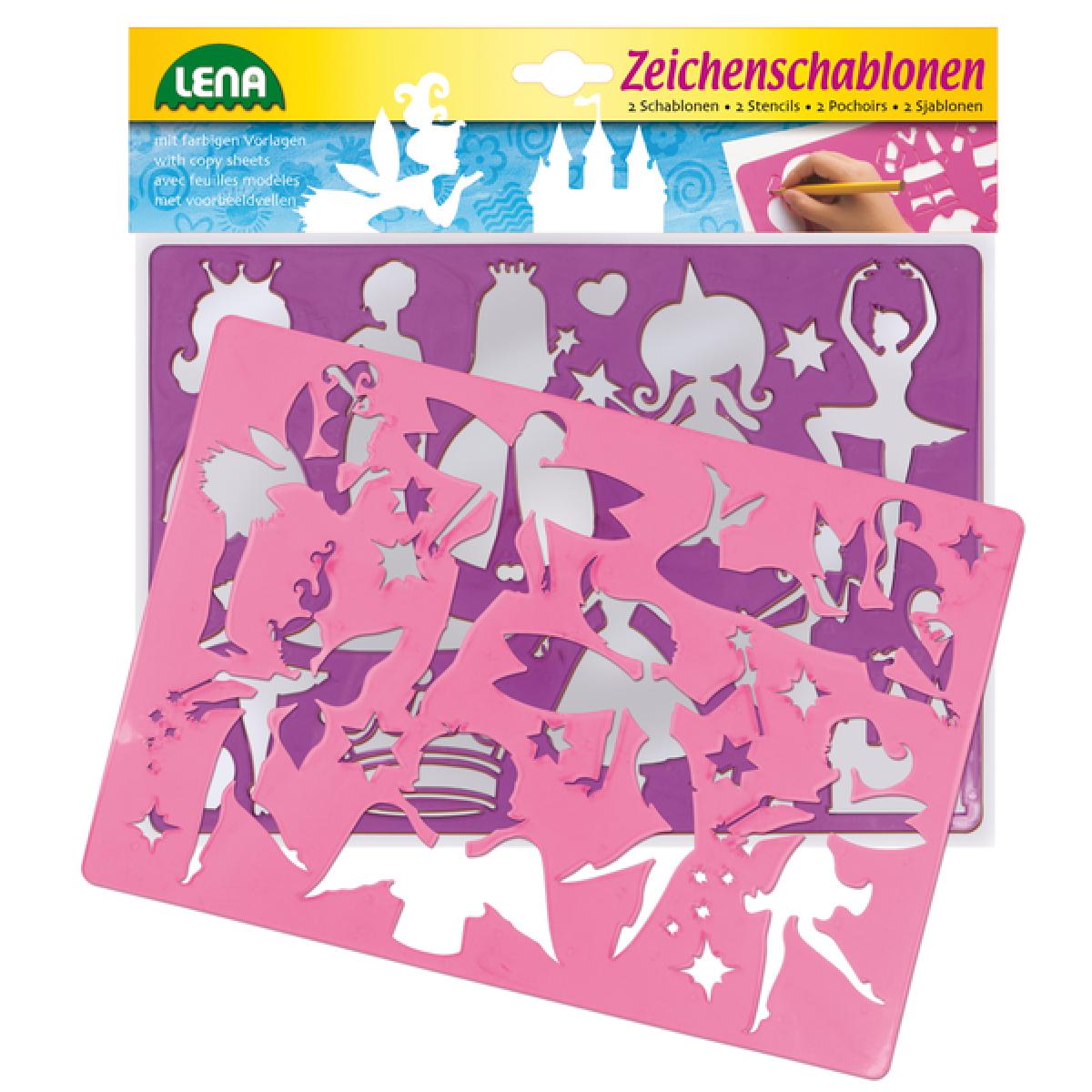 LENA 65766 - Kreslící šablony - přincezny, baletky