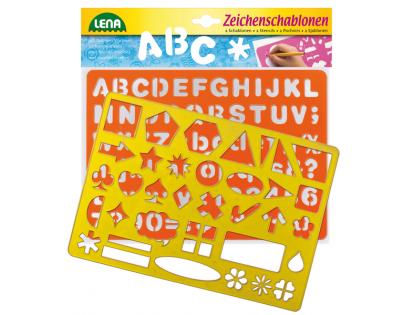 LENA 65774 - Kreslící šablony - symboly, písmena