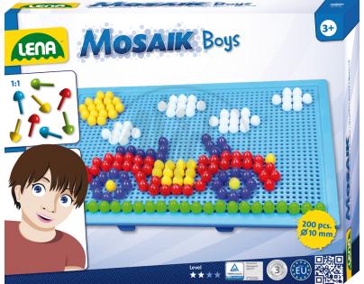 Mozaika velká 200ks pro kluky (LENA  35612)