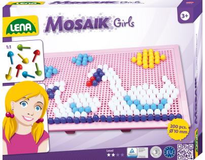 Mozaika velká 200ks pro holky (LENA  35611)