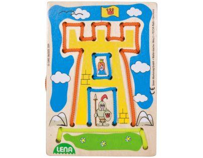 LENA 32039 - Navlékací obrázek, hrad