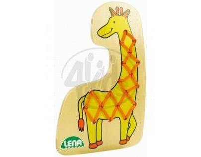 LENA 32072 - Navlékací obrázek, žirafa