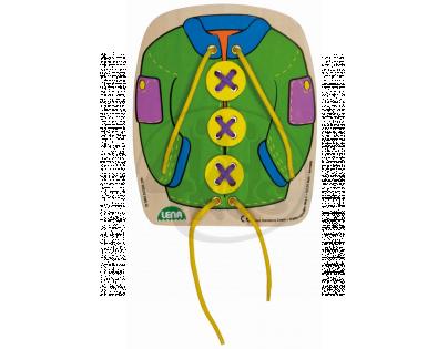 Lena Navlékací obrázek Kabát zelený