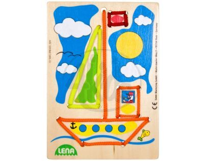 LENA 32036 - Navlékací obrázek, plachetnice