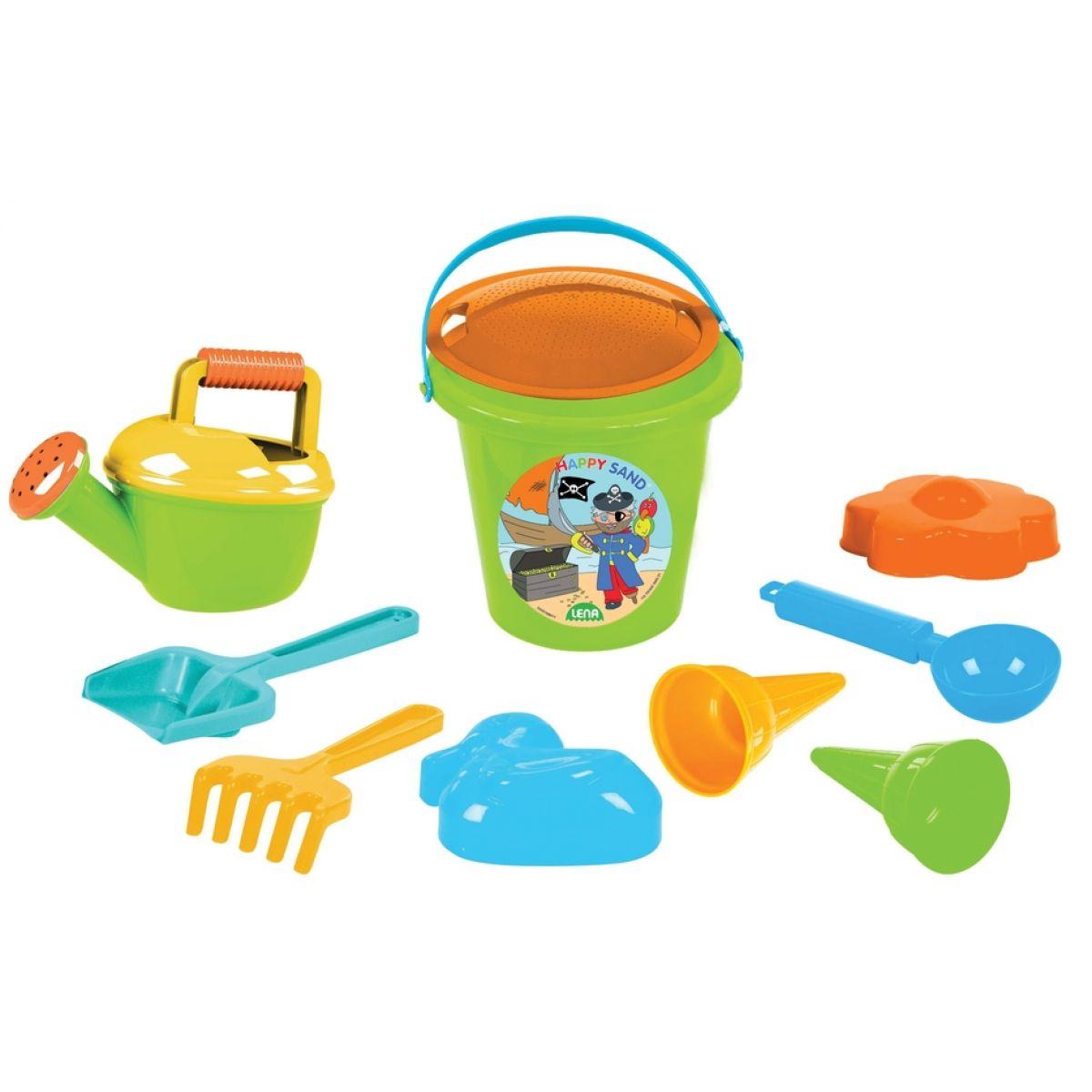 LENA hračky sada na písek pro kluky II 10 dílná