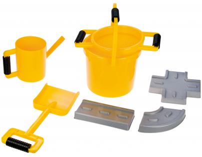 LENA 05440 - Pískový set - cestář 7 dílů - žlutý