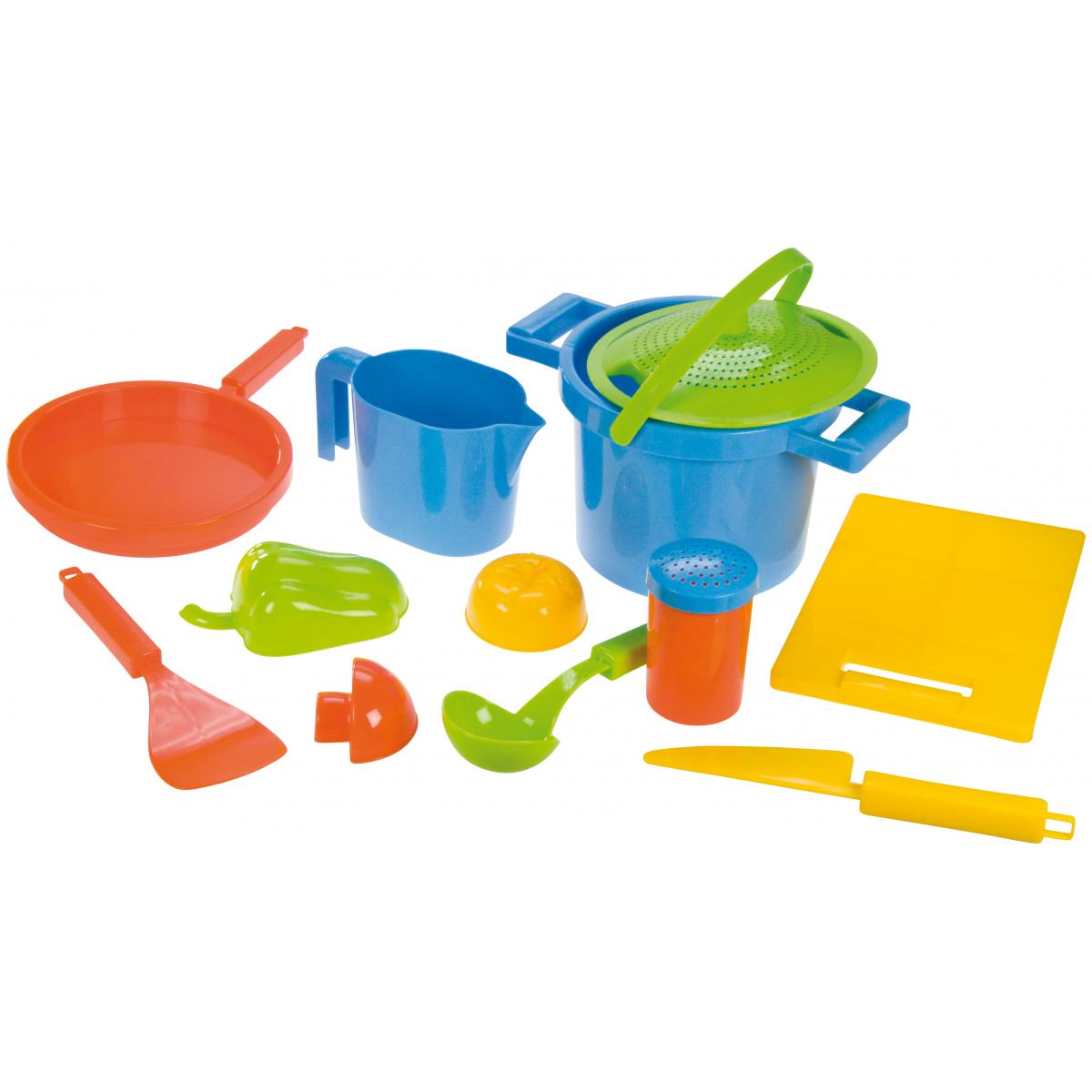 LENA 05411 - Pískový set k vaření, 12 dílů
