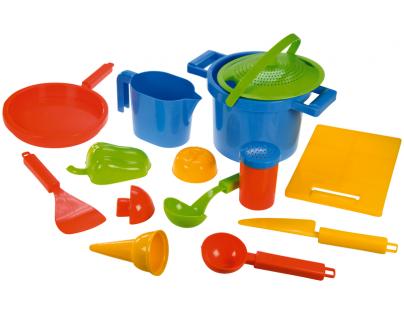LENA 05410 - Pískový set k vaření, 14dílů