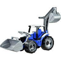 Lena Traktor s lyžicou a bagrom modro šedý