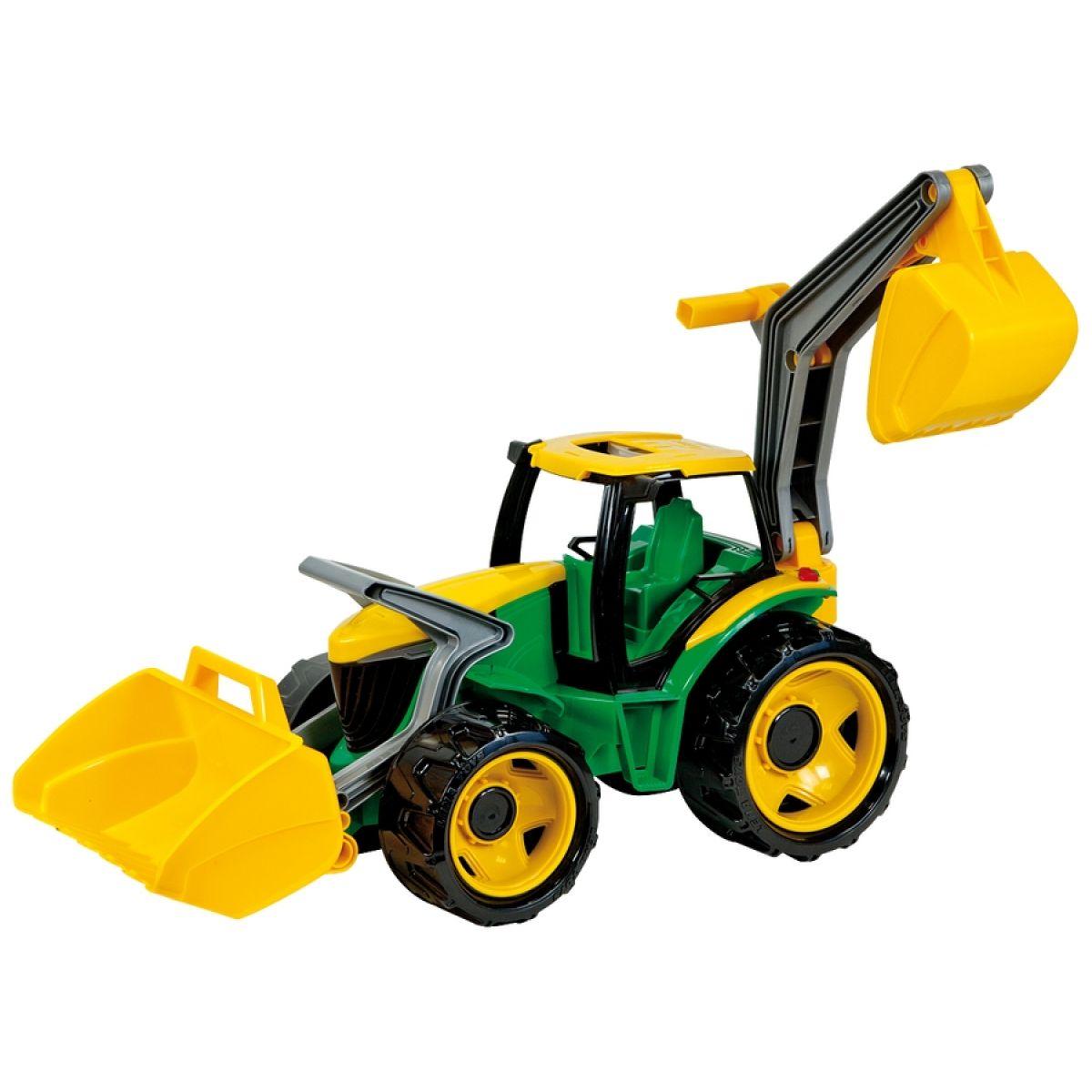 LENA 02080 - Traktor se lžící a bagrem, zeleno žlutý