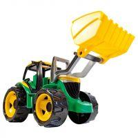 LENA 02080 - Traktor se lžící a bagrem, zeleno žlutý 2