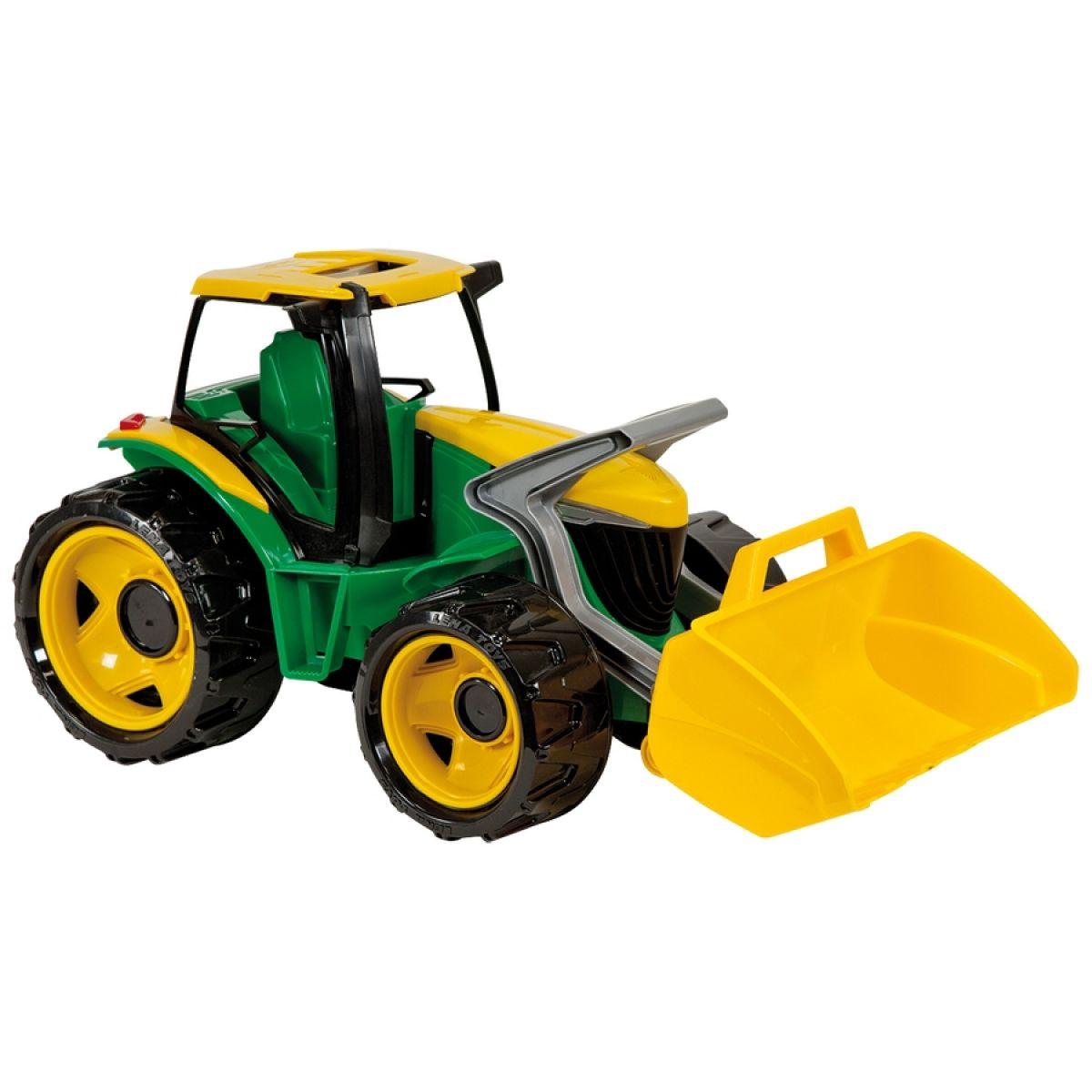 Lena Traktor se lžící zeleno žlutý 62 cm na písek