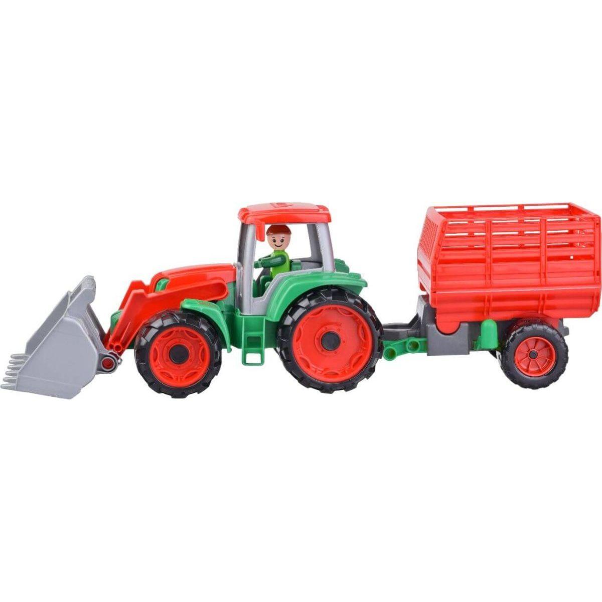 Lena Truxx Traktor s přívěsem na seno s ozdobným kartónem